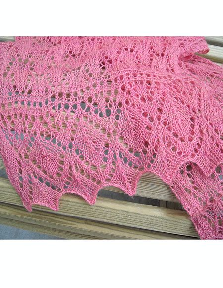 Estonian Flamingo Lace Stole Or Scarf Knitting Patterns And