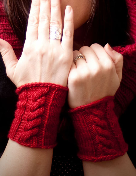 Through The Woods Hooded Neck Warmer Cuffs Knitting Patterns And