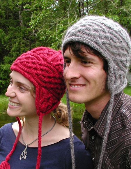 Aran Earflap Hat - Knitting Patterns and Crochet Patterns ...