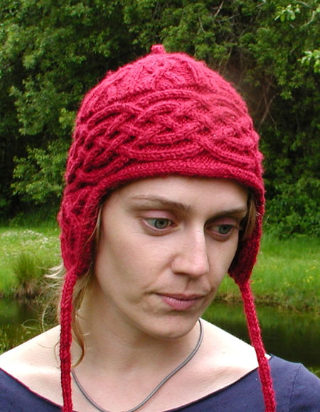 Aran Earflap Hat Knitting Patterns And Crochet Patterns From