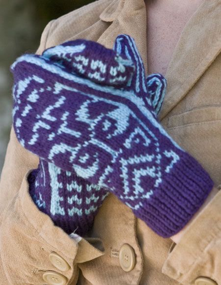 Crimson Tide Nordic Mittens - Knitting Patterns and Crochet Patterns from Kni...