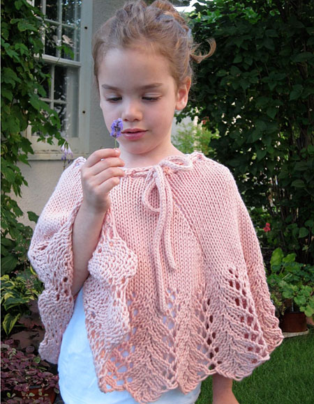 Knitting Pattern Cape Child : Pixie Child Poncho - Knitting Patterns and Crochet Patterns from KnitPicks.com