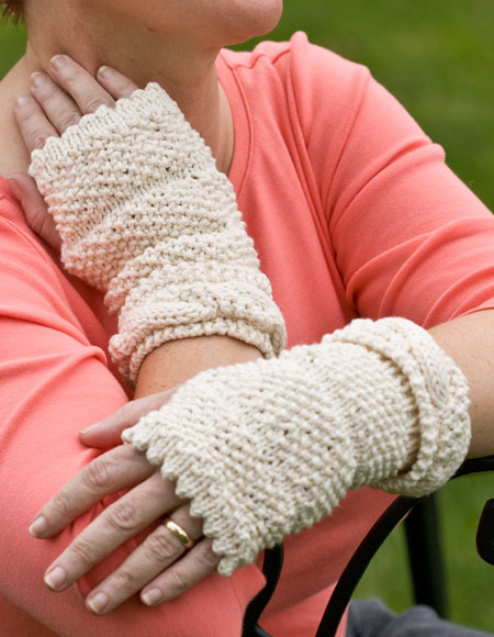 Dimpled Cable Hat Fingerless Mittens Knitting Patterns And