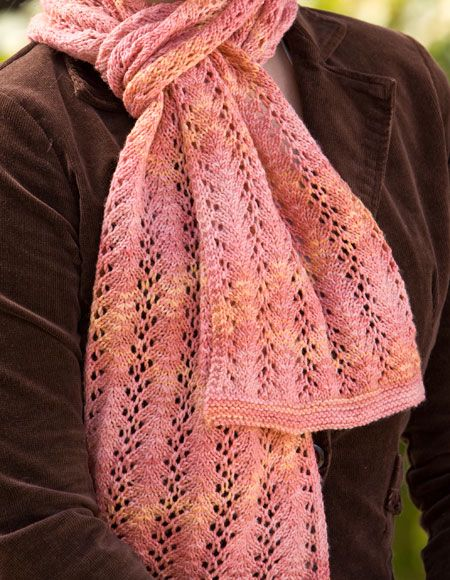 Royal Vines Scarf - Knitting Patterns and Crochet Patterns from ...