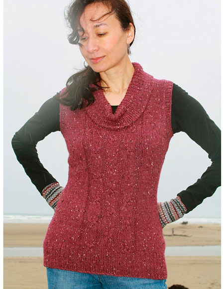 Adagio Tunic Vest - Knitting Patterns and Crochet Patterns from ...