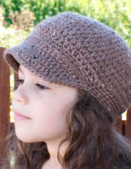 Free Knitting Pattern Newsboy Cap : All Ages Newsboy Crochet Cap - Knitting Patterns and Crochet Patterns from Kn...