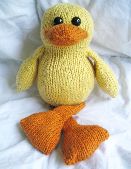 Dudley The Duck Toy Knitting Patterns And Crochet Patterns From