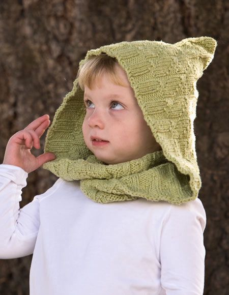 Free Crochet Pattern Toddler Hooded Cowl : Kombu Moebius Cowl & Hood for Child & Adult - Knitting ...