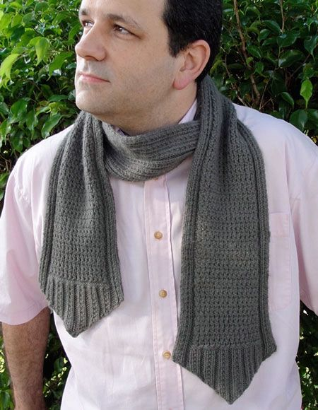 Crosshatch Cravat Knitting Patterns And Crochet Patterns From