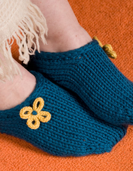Two Hour Toe Up Slippers Pattern - Knitting Patterns and Crochet ...
