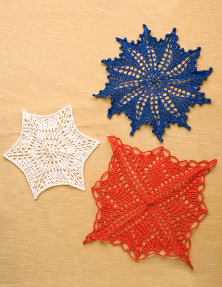 A Trio Of Knitted Doilies Knitting Patterns And Crochet Patterns