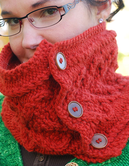 Button Cowl - Knitting Patterns and Crochet Patterns from ...