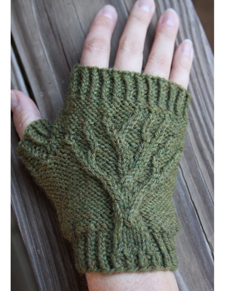 Tree of Life Fingerless Gloves - Knitting Patterns and Crochet Patterns from ...
