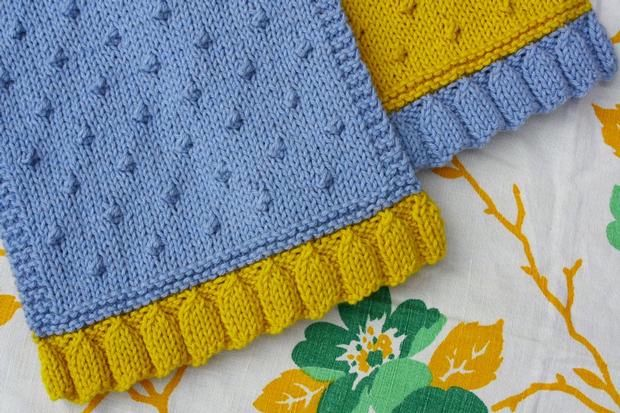 Colorblock Tea Towel Set Knitting Patterns And Crochet Patterns