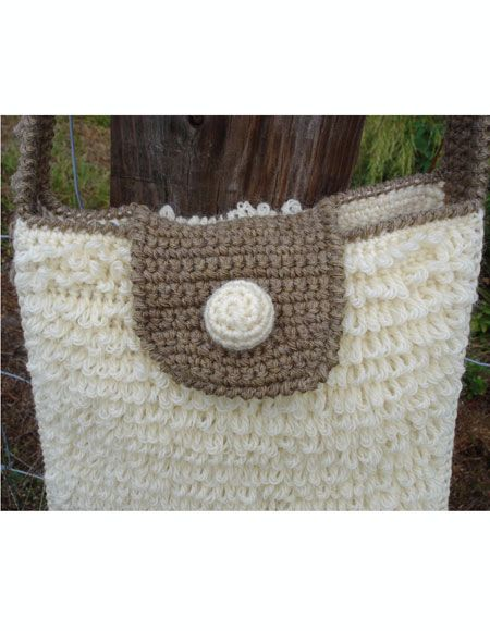 Shaggy Loop Crochet Shoulder Bag Knitting Patterns And Crochet