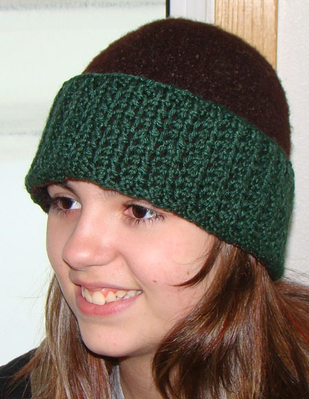Felted Hat with 4 Brims Variations - Knitting Patterns and Crochet Patterns f...