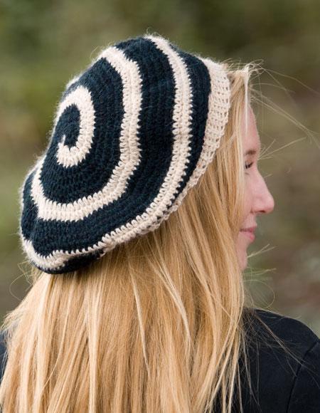 6 Strand Spiral Crochet Beret Knitting Patterns And Crochet