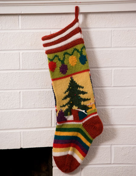 Mix It Up Christmas Intarsia Stocking Pattern Knitting Patterns