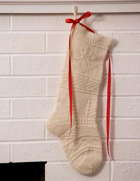 Mix It Up Textured Christmas Stocking Pattern Knitting Patterns