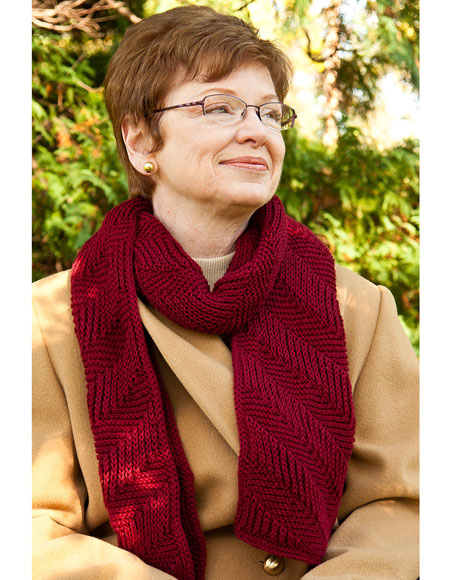 Reversible Ribbed Scarf Knitting Patterns And Crochet Patterns