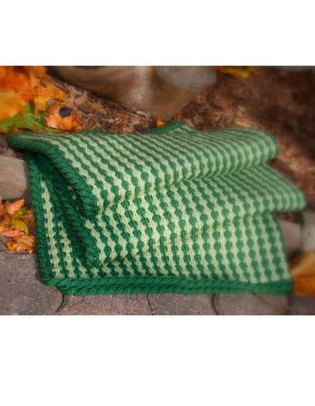 Tuck Stitch Lap Throw Baby Blanket Knitting Patterns
