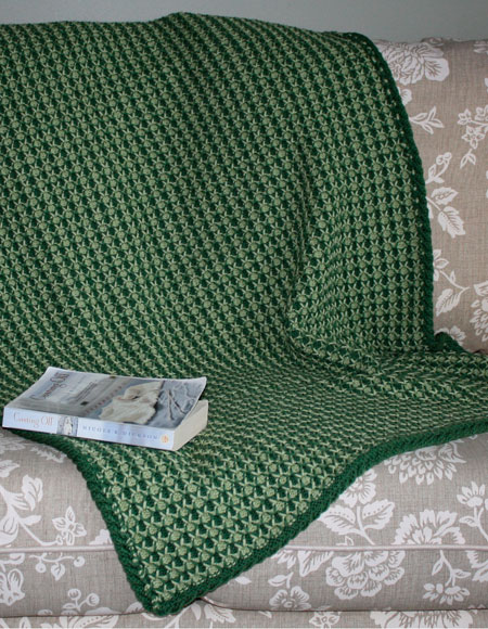 Tuck Stitch Lap Throw / Baby Blanket - Knitting Patterns ...