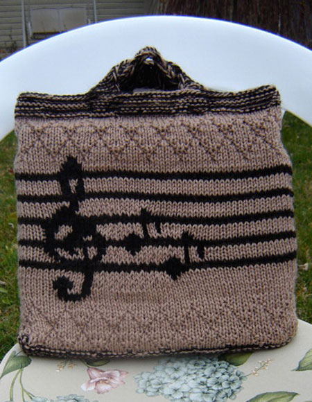 Music Tote Bag Knitting Patterns And Crochet Patterns From