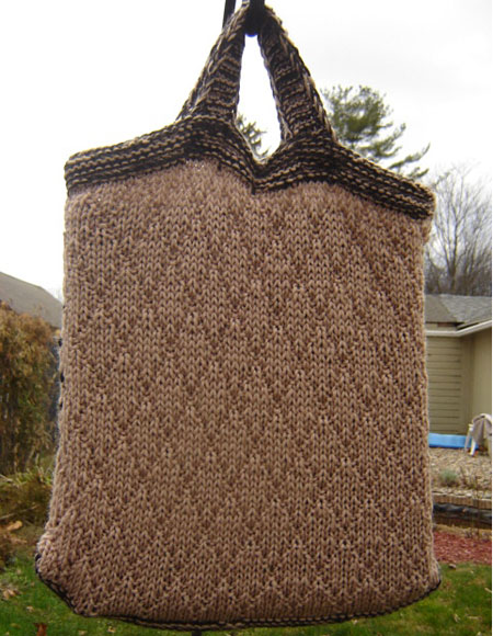Knitted Tote Bag Pattern : Music Tote Bag - Knitting Patterns and Crochet Patterns from KnitPicks.com