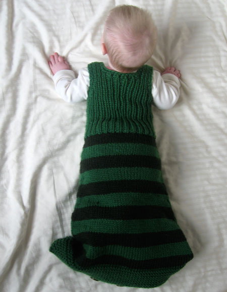 The Kicky Pickle Sleep Sack Knitting Patterns And Crochet Patterns