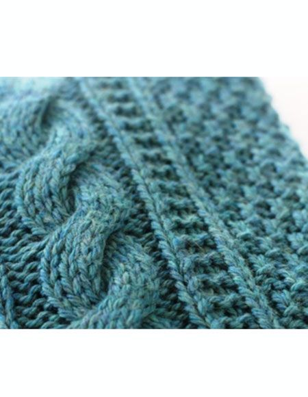 Crochet Cable Baby Blanket Pattern : Cabled Baby Afghan - Knitting Patterns and Crochet ...