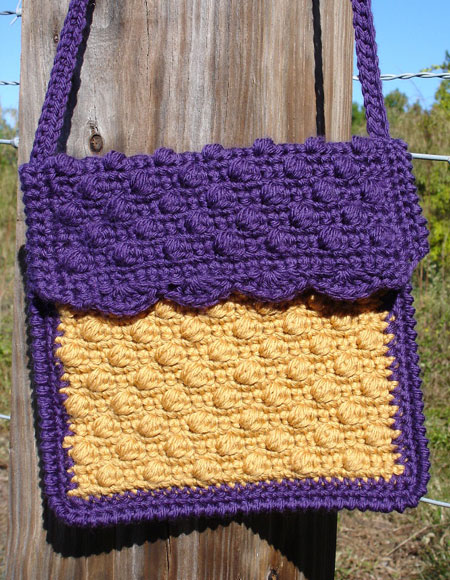 Little Girls Cobblestone Crochet Purse Knitting Patterns And