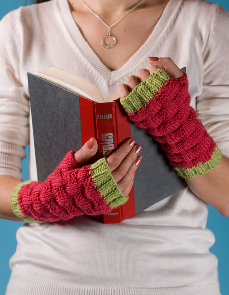 Gretchen Fingerless Mitts - Knitting Patterns and Crochet Patterns ...