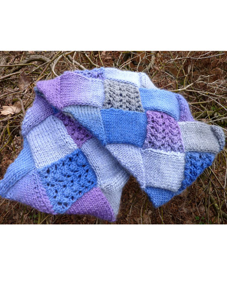 Lacy Entrelac Infinity Scarf Knitting Patterns And Crochet