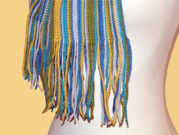 Knit Striped Scarf Pattern : Simply Striped Crochet Scarf - Knitting Patterns and Crochet Patterns from Kn...