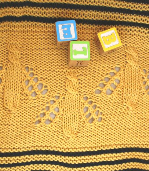 Buzzy Bee Baby Blanket Knitting Patterns And Crochet Patterns From
