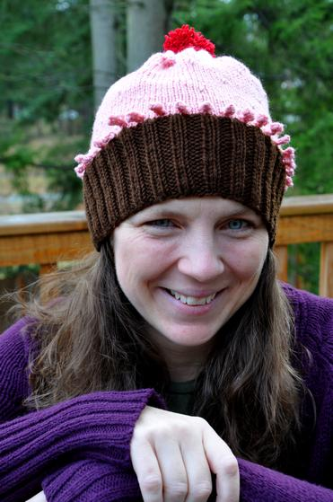 Adult Beaded Cupcake Hat Knitting Patterns And Crochet Patterns
