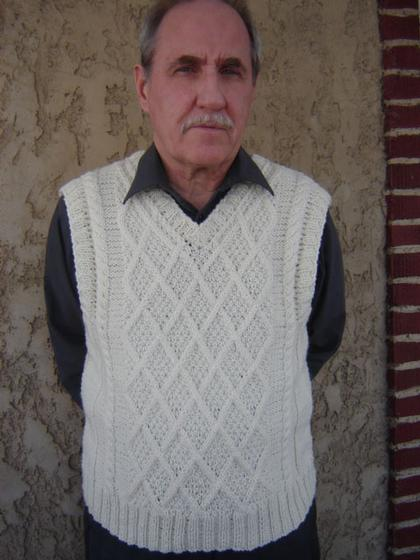 Diamond Man Vest Knitting Patterns And Crochet Patterns From