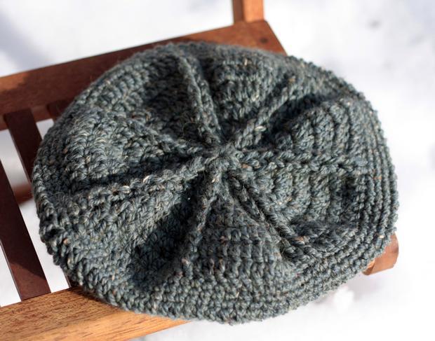Free Crochet Pattern French Beret : Star Beret Crochet Hat - Knitting Patterns and Crochet ...