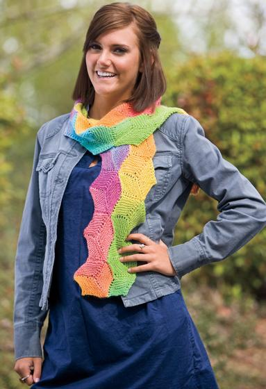 Hexagon Scarf Knitting Patterns And Crochet Patterns From
