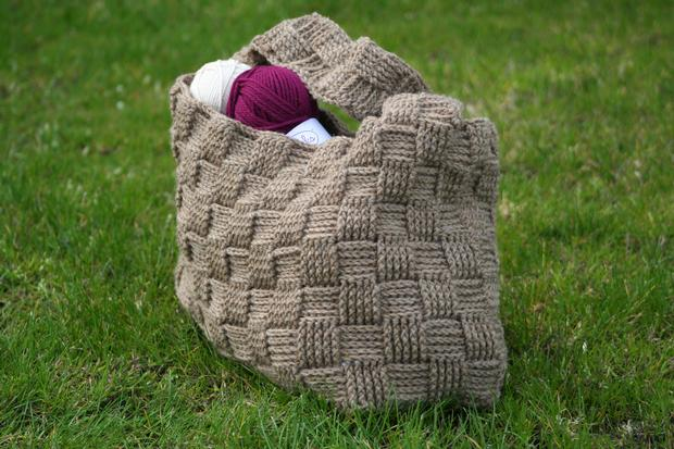 Harvey Basketweave Crochet Tote Knitting Patterns And Crochet