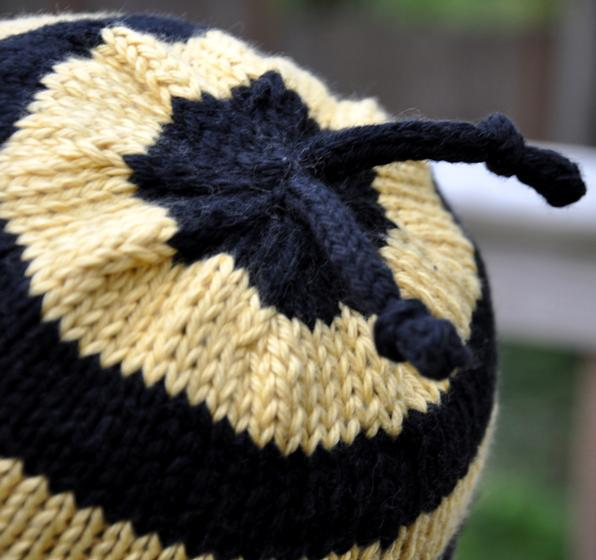 Free Dog Patterns To Knit : Bumble Bee Hat - Knitting Patterns and Crochet Patterns from KnitPicks.com