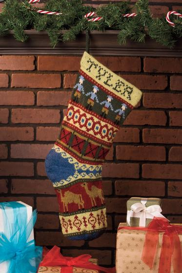 Heirloom Christmas Stocking Knitting Patterns And Crochet Patterns