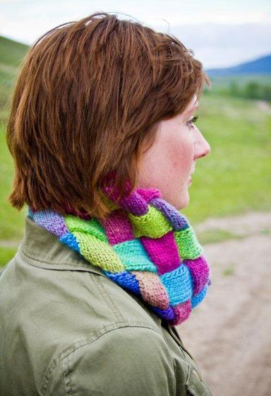 Entrelac Cowl Knitting Patterns And Crochet Patterns From