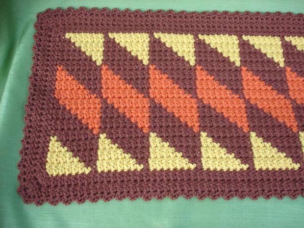 Fall Fiesta Crochet Table Runner - Knitting Patterns and Crochet ...