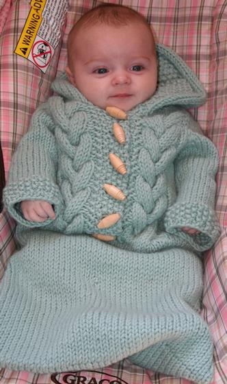 Top Down Baby Bunting Knitting Patterns And Crochet Patterns From