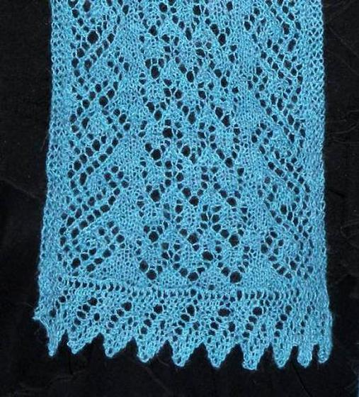 Tide pool lace scarf knitting patterns and crochet for Thread pool design pattern