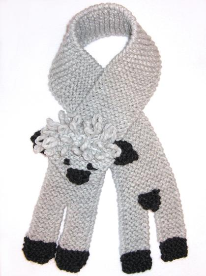 Little Lamb Scarf Knitting Patterns And Crochet Patterns From