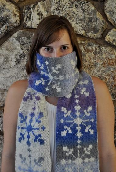 Snowstorm Scarf Knitting Patterns And Crochet Patterns From