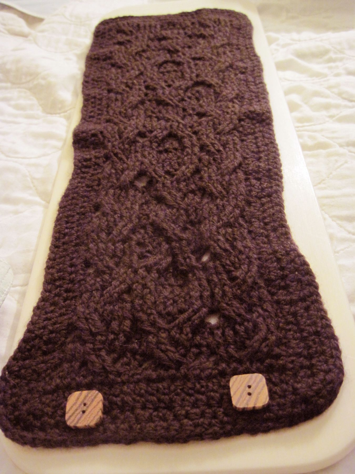 Buttoned Cowl Knitting Pattern : Buttoned Cabled Crochet Cowl - Knitting Patterns and Crochet Patterns from Kn...