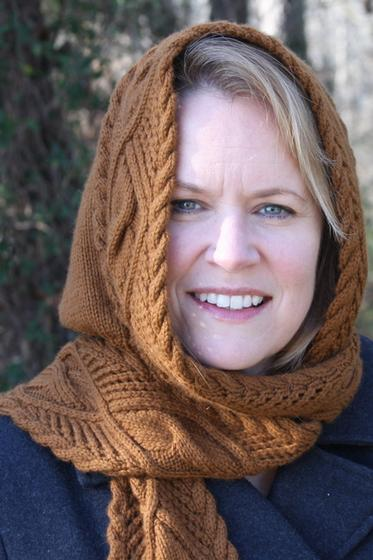 Lace Cable Hooded Scarf Knitting Patterns And Crochet Patterns